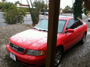 snow in tucson early 2012 is