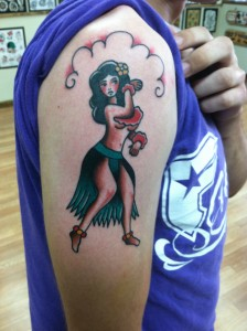Traditional_hula_girl_pinup_bold_will_hold_david_meek_tattoos_true_til_death_tattoo_company_ashtabula_ohio