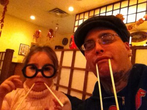 couple of walrus dorks at sushi