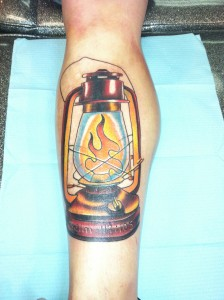 Tough Manly Sexy Lantern Color Leg Tattoos